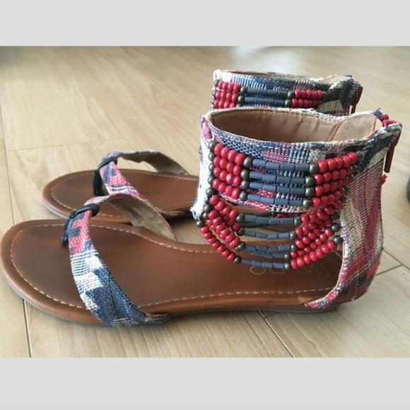Aldo Shoes - ALDO BEADED GLADIATOR SANDALS